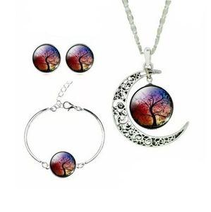 Tree Of Life Necklace Earrings & Bracelet